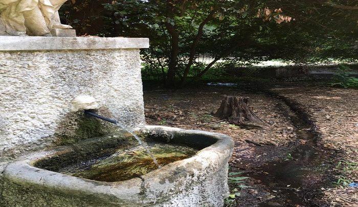 Reggia di Caserta. Sprechi d'acqua e incuria del verde.